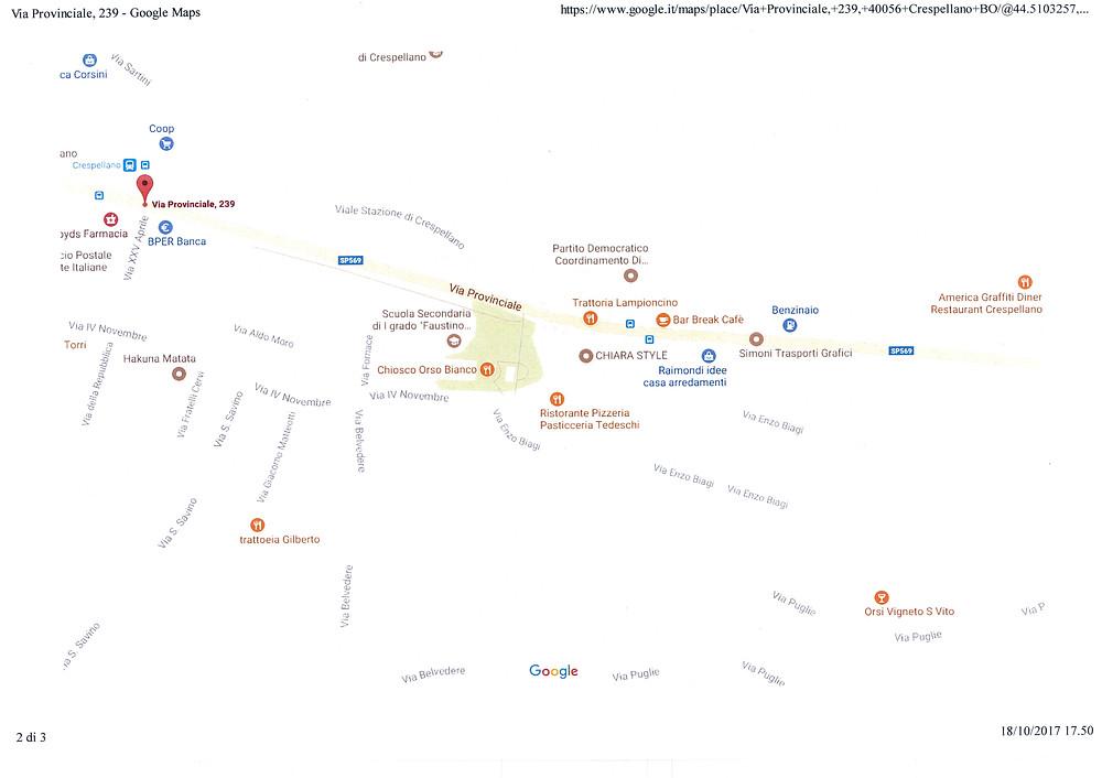 dov'è la Sala Mimosa a Crespellano