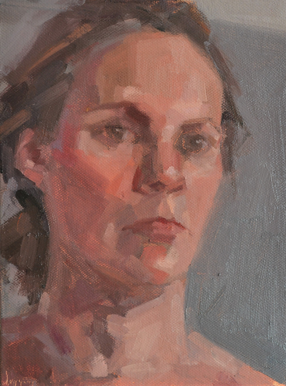 """May"", 18 x 24 cm I painted this in two quick sessions in my studio, just painting what I saw, no underdrawing or underpainting, merely responding to what I could see and working it out on the canvas"
