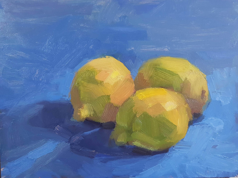 Nestled lemons 18 x 24 cm