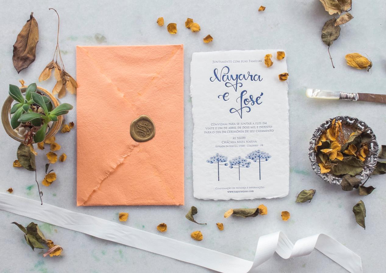 Convite de casamento Nayara e José