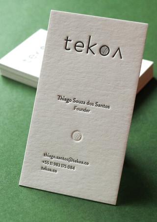 Cartão de visitas Tekoa