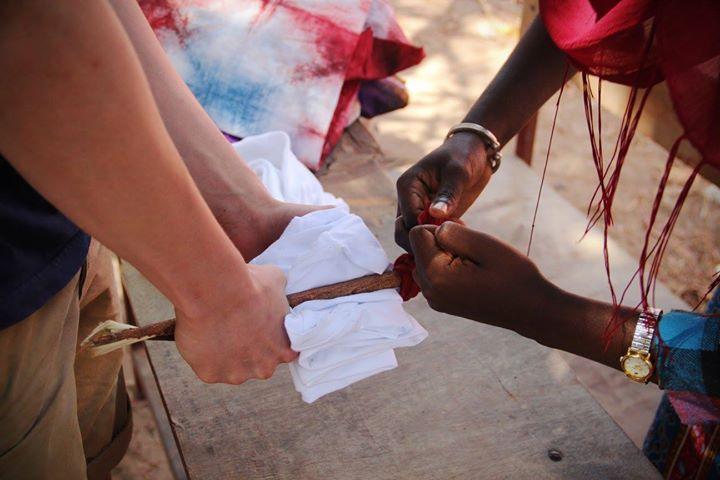Different folding techniques for batik dyeing