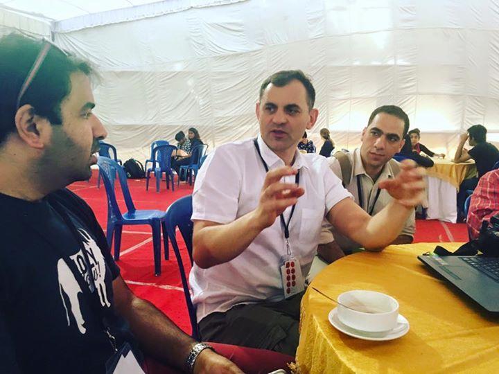 Lunch diskussions with Ishan Khosla, Jarek Bujny and Tariq Rimawi