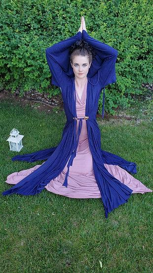 Blue Vegan Suede Amah Kimono