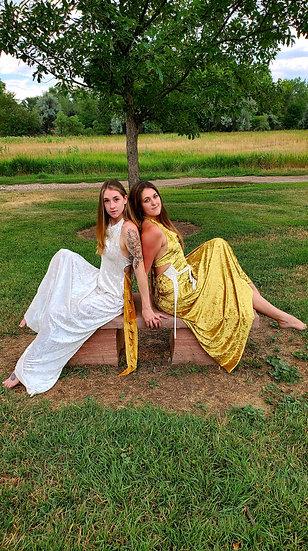 Golden Goddesses Sister Gowns