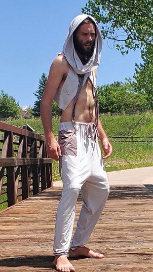 Stone Grey Vegan Suede Trousers