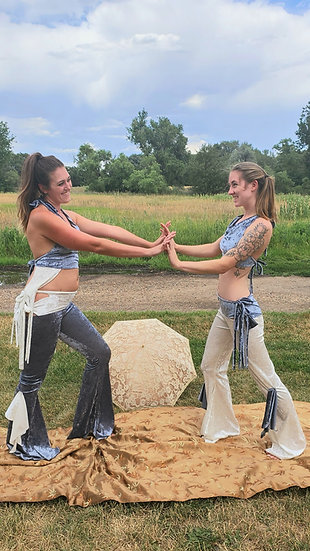 Ice Blue Tie Belles Sister Set