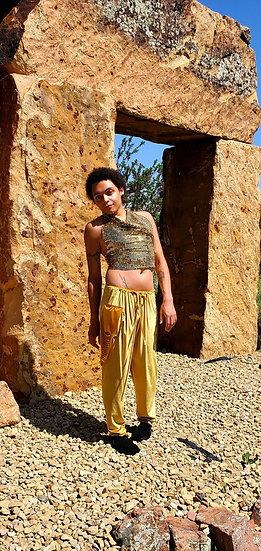 Midas Golden Velvet Trousers