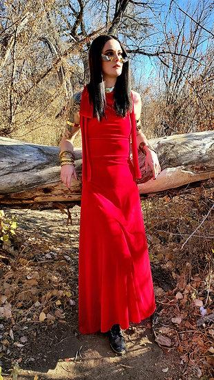 Lovin' Red Velvet Crossback Gown