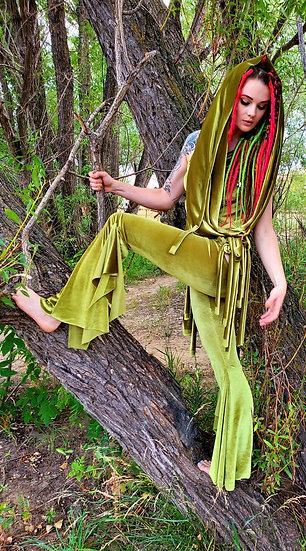 Alien Green Velvet Tie Belles Set