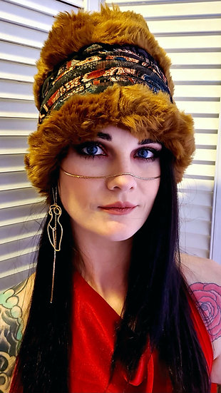 Raquel's Rusted Copper Furry Head Wrap