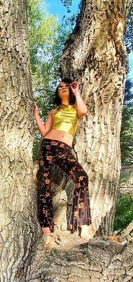Autumn Sparkle Velvet Belles and Crop Top Set