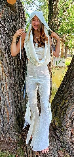 Divine White Velvet Goddess Hood