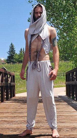 Stone Grey Vegan Suede Trousers Set