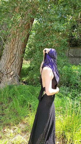 Wild Animal Purple and Black Shiny Hood