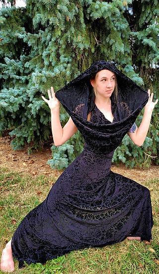 Black Lotus Burnout Velvet Hood