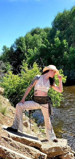Cowgirl Mesh Crop Top