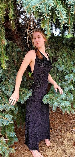 Black Lotus Burnout Velvet Gown