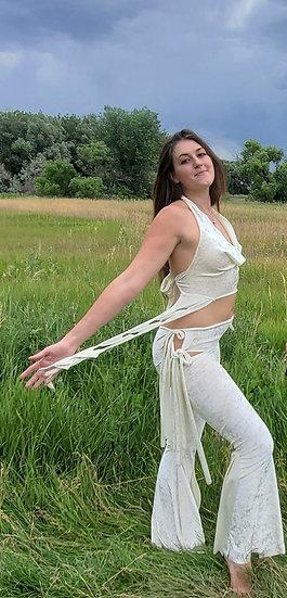 White Velvet Tie Belles