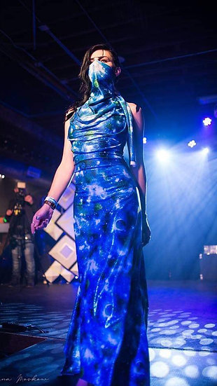 Blue Planet Runway Gown