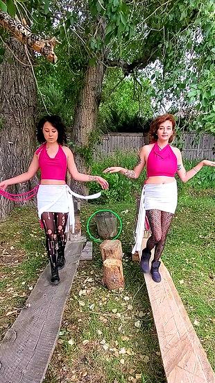 Hottie Pink Spandex Sister Crop Tops