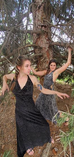 Burnout Velvet Sister Gowns