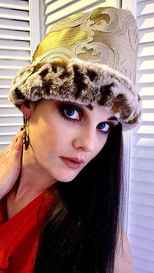 Raquel's Golden Goddess Furry Head Wrap