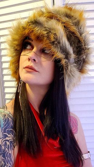 Raquel's Long Foxy Furry Head Wrap