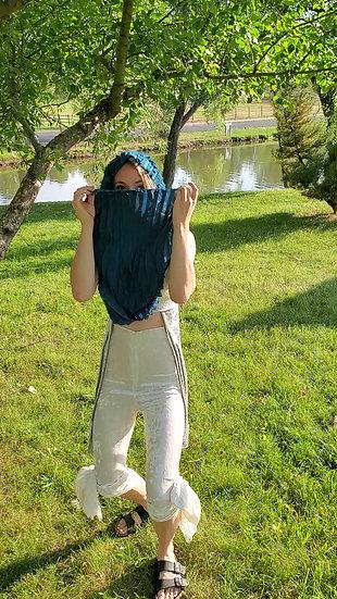 Blue Jellyfish Ruffle Hood