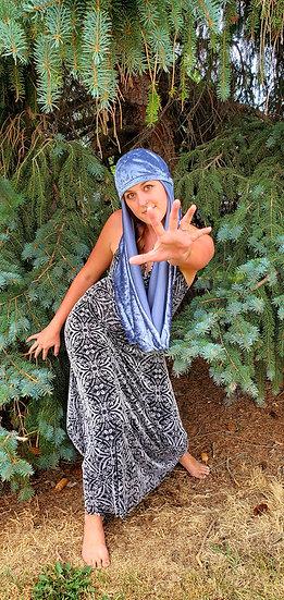 Ice Blue Velvet Multi-Way Hood