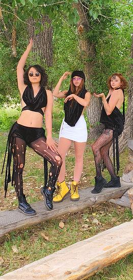 Black Velvet Multi-Way Hood Tribe Set
