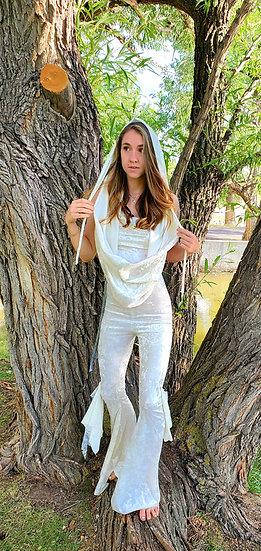 Divine White Velvet Goddess High Belles Set