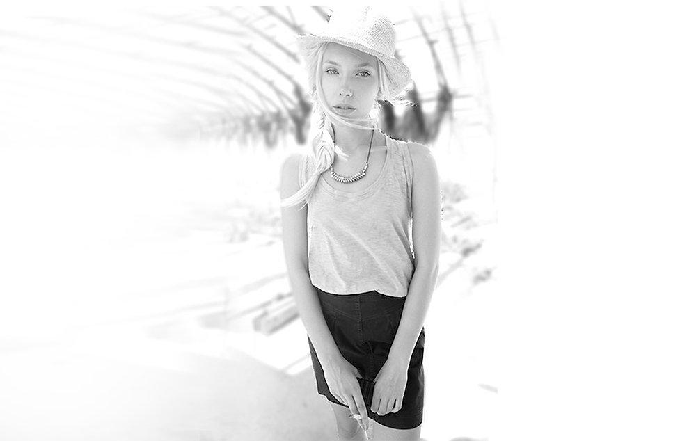 גופיה פלאם כותנה חצאית ג'ינס שחורה - מיכל אמה