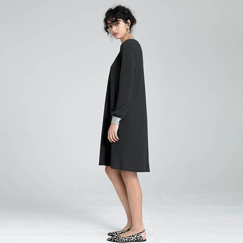 שמלת סריג עם שילוב לורקס - סאן סטון
