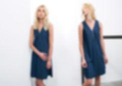 שמלת ג'ינס טנסל עם כפתורי מתכת-מיכל אמה