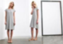 שמלת ויסקוזה , משולבת גאקרד בגיזרת קלוש