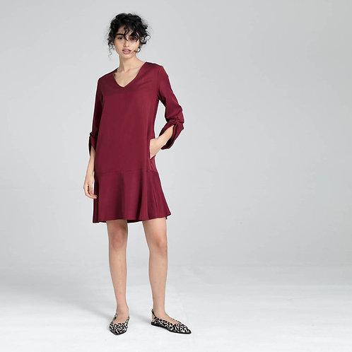 שמלה עם קשירה בשרוול - אופאל