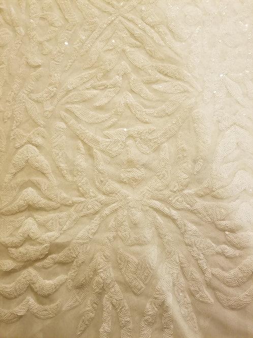 Sequins Mesh White 154432