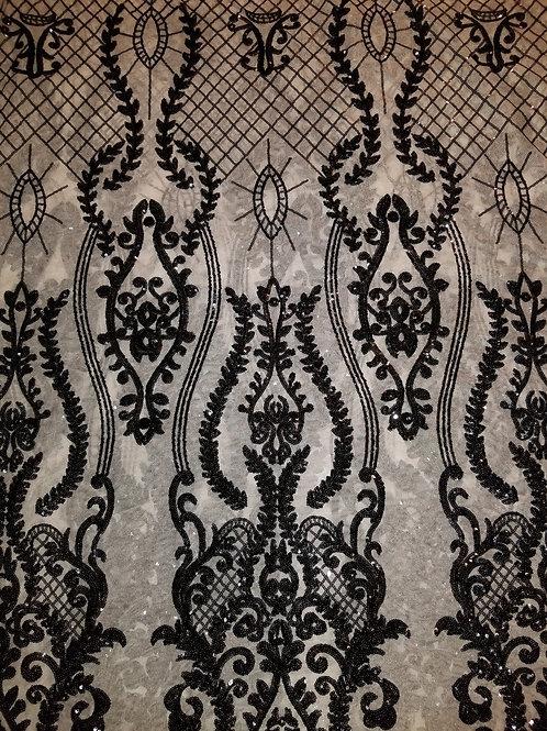 Sequins Mesh Black 145843