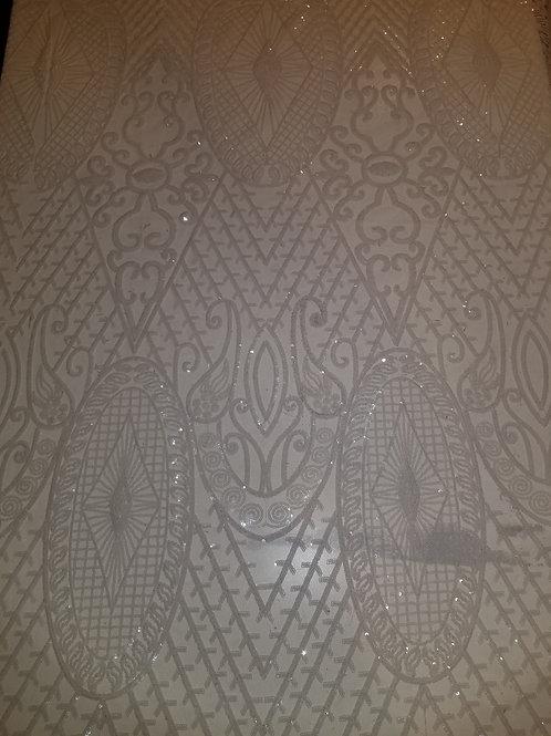Sequins Mesh White 143922