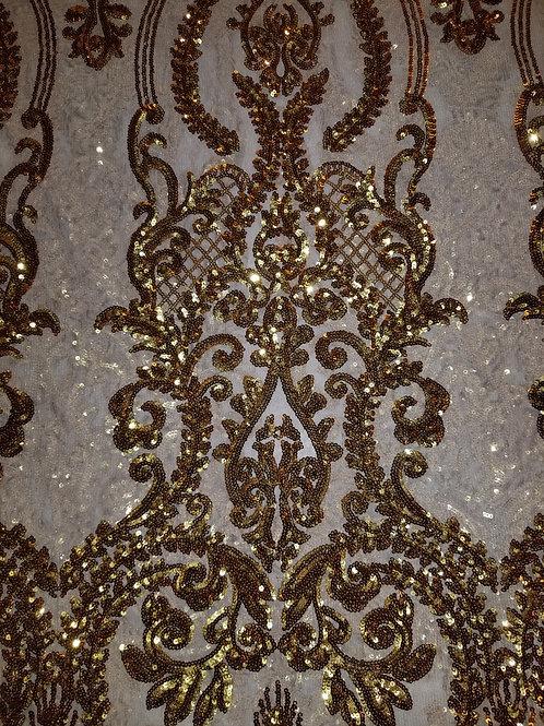 Sequins Mesh Gold 150120