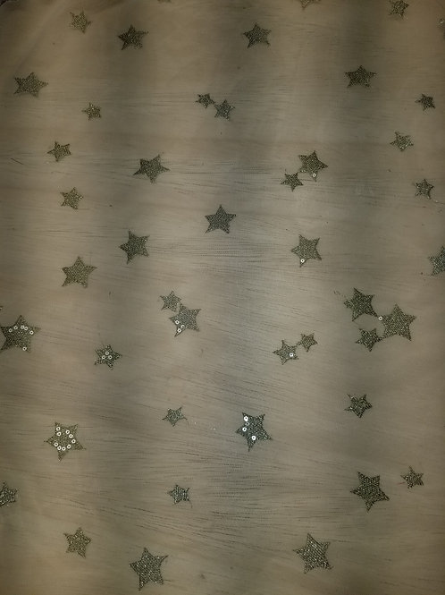Star embroidered Mesh 164730