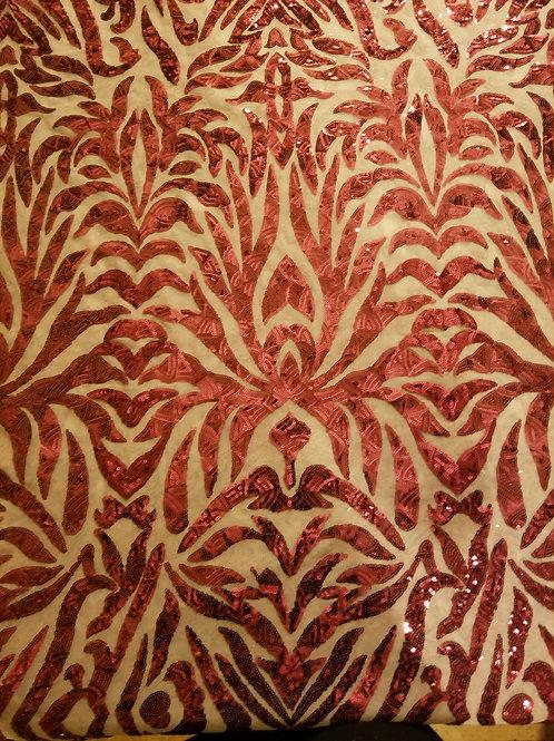 Sequins Mesh Wine Red 154635