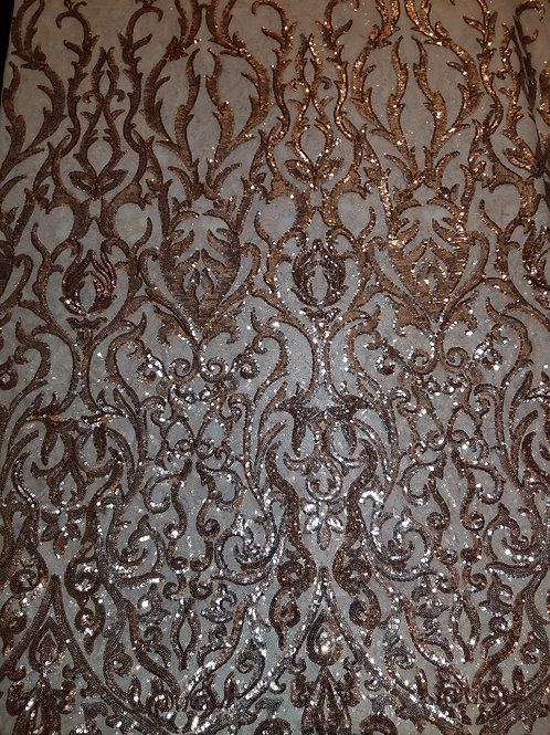 Sequins Mesh Rose Gold 154040