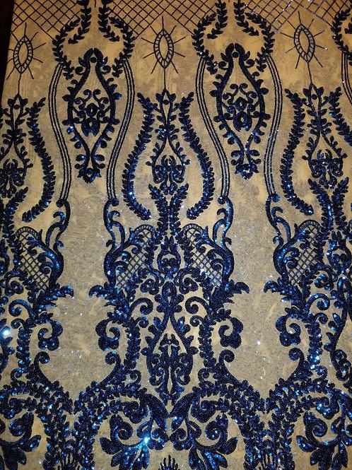 Sequins Mesh Royal Blue 150605