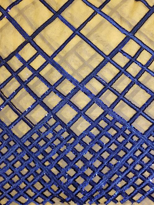 Sequins Mesh Royal Blue 151724