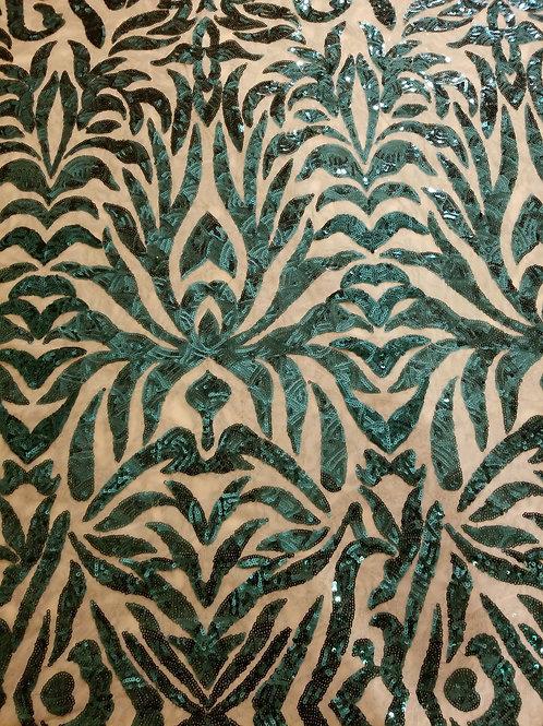 Sequins Mesh Dk Green 154803