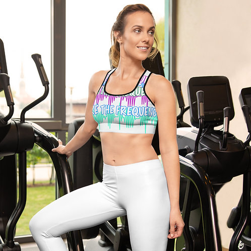 We're the Frequency Padded Sports Bra