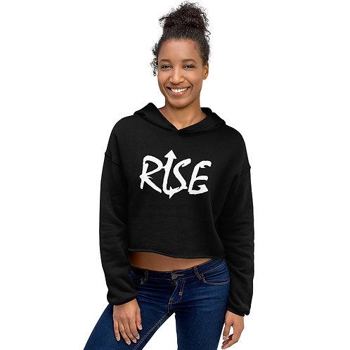 RISE Crop Hoodie Women (Black)