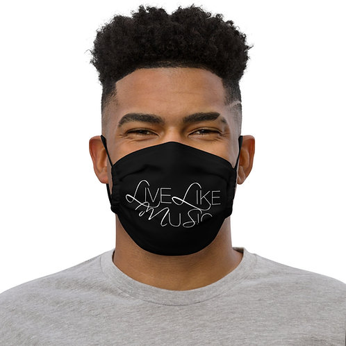 LIVE LIKE MUSIC Premium face mask